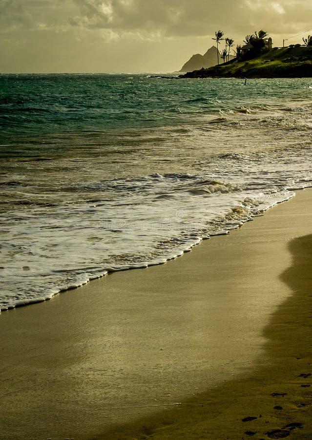 Vista de la playa de Kailua fotografía de archivo libre de regalías