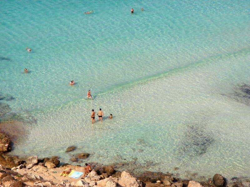 Vista de la playa de los conejos fotografía de archivo libre de regalías