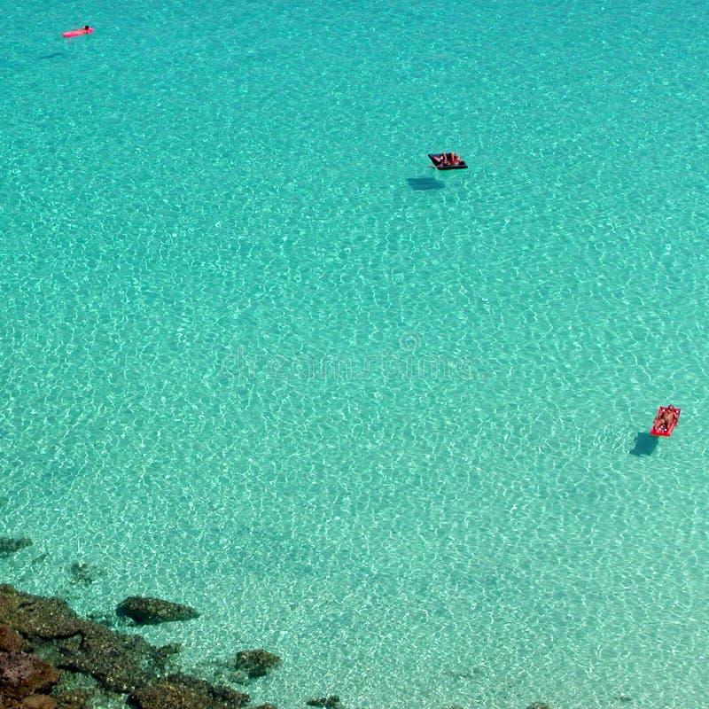 Vista de la playa de los conejos foto de archivo libre de regalías