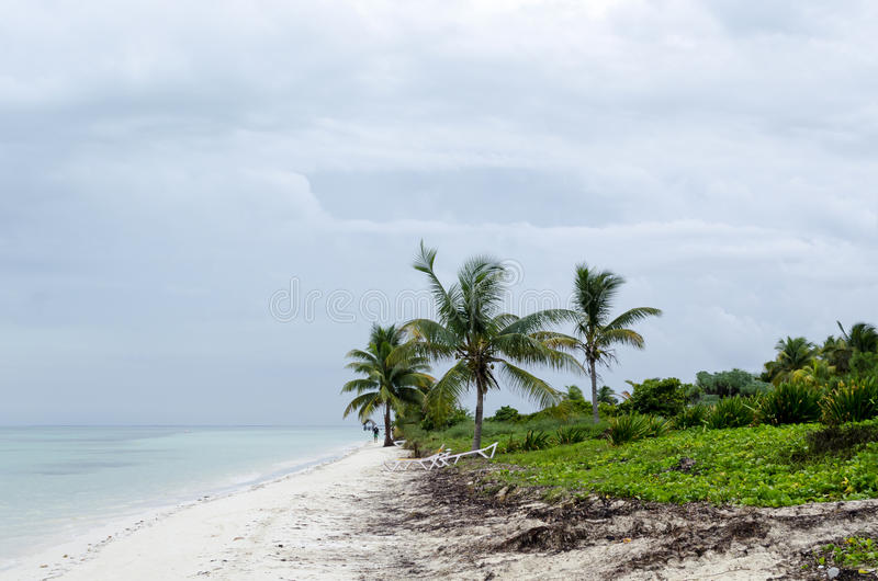 Vista de la playa tropical en Cayo Guillermo fotografía de archivo libre de regalías