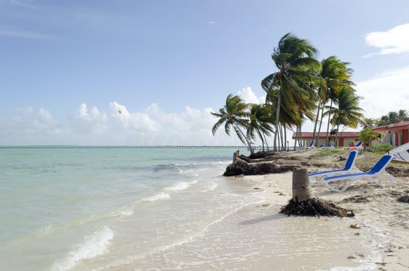 Vista de la playa tropical en Cayo Guillermo foto de archivo libre de regalías
