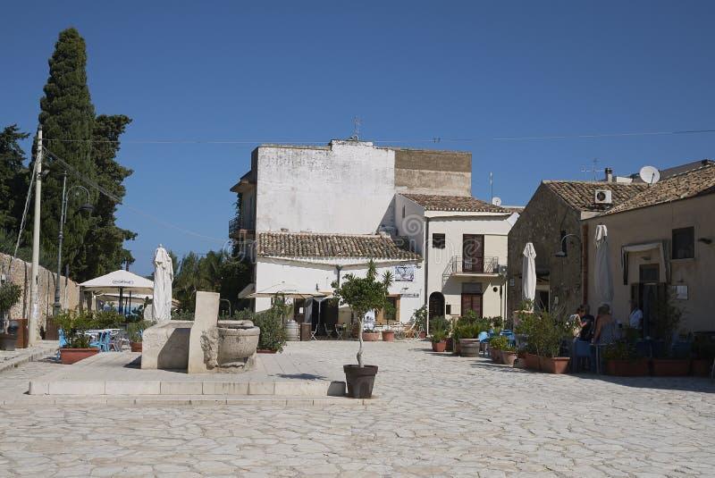 Vista de la plaza Nettuno fotos de archivo libres de regalías