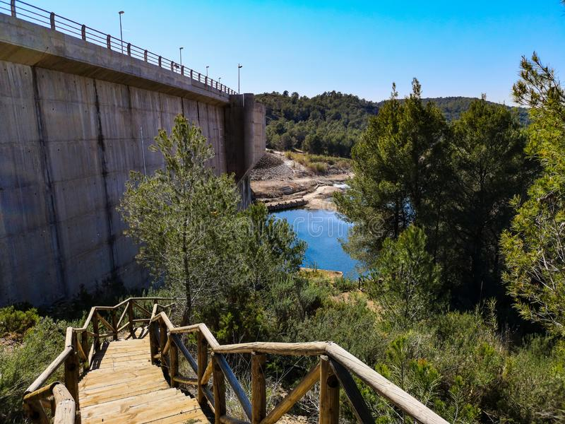 Vista de la presa de Algar fotos de archivo libres de regalías