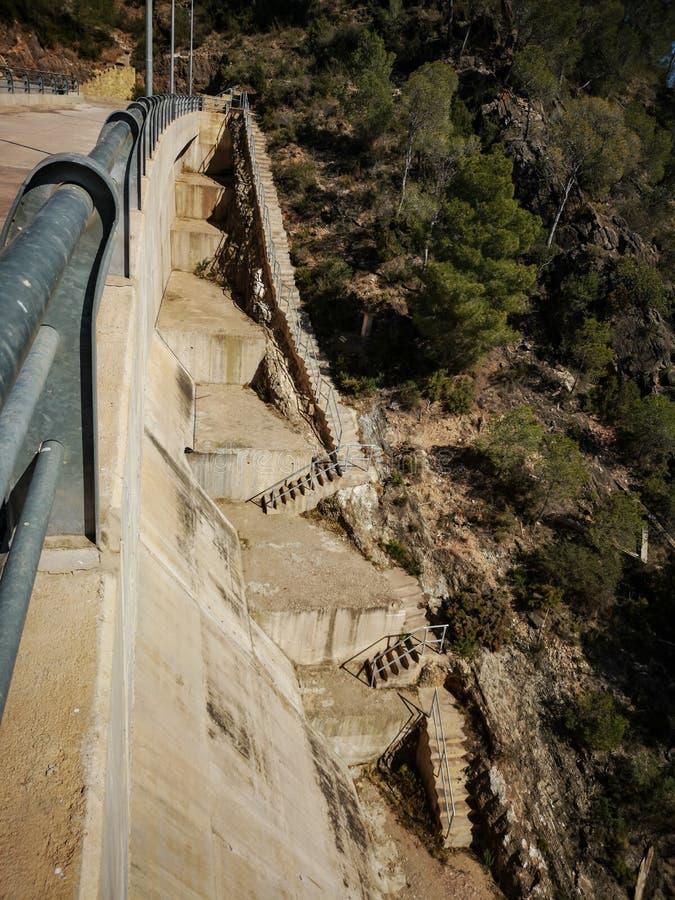 Vista de la presa de Algar imágenes de archivo libres de regalías