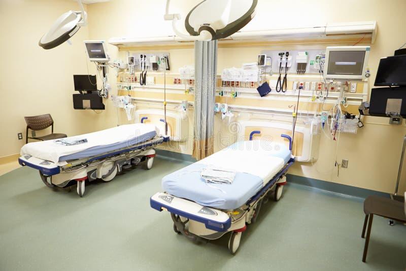 Vista de la sala de urgencias vacía imagenes de archivo