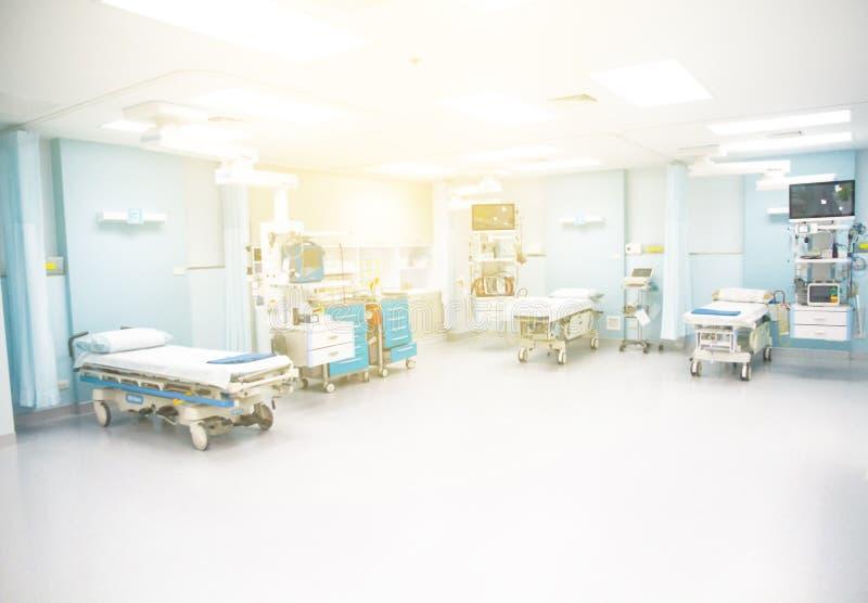 Vista de la sala de urgencias vacía fotografía de archivo