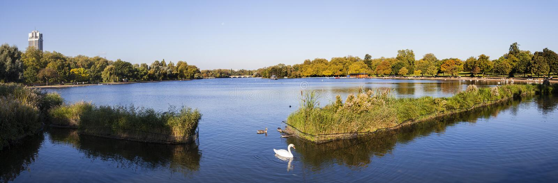 Vista de la serpentina en Hyde Park fotografía de archivo libre de regalías