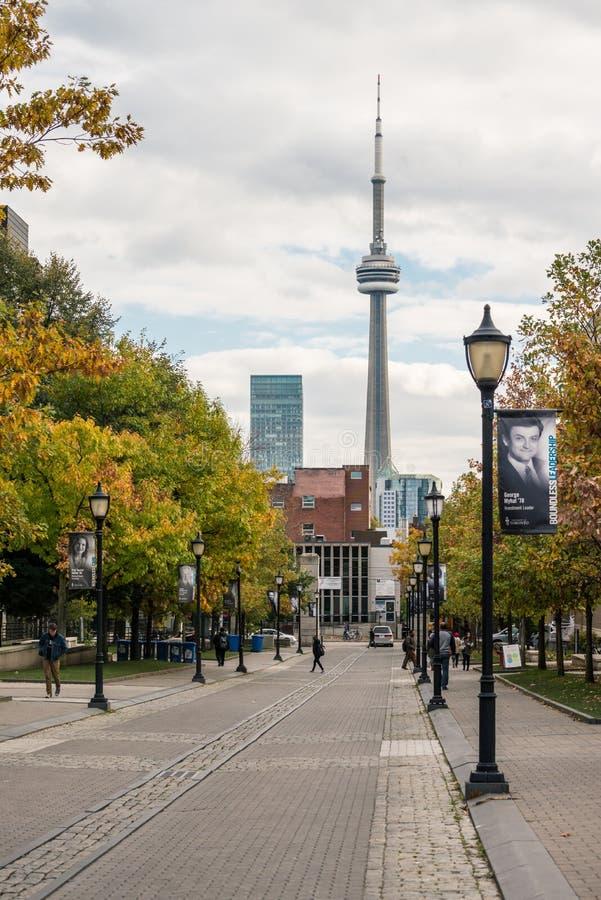 Vista de la torre del NC de la universidad de Toronto foto de archivo