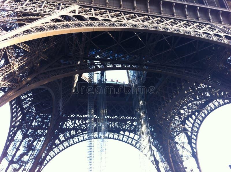 Vista de la torre Eiffel imagenes de archivo