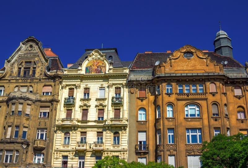 Vista de la vieja arquitectura hermosa de Budapest fotografía de archivo