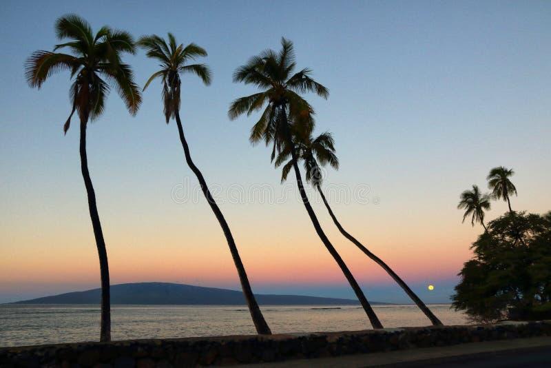 Vista de Lanai de Front Street en Lahaina en Maui foto de archivo libre de regalías