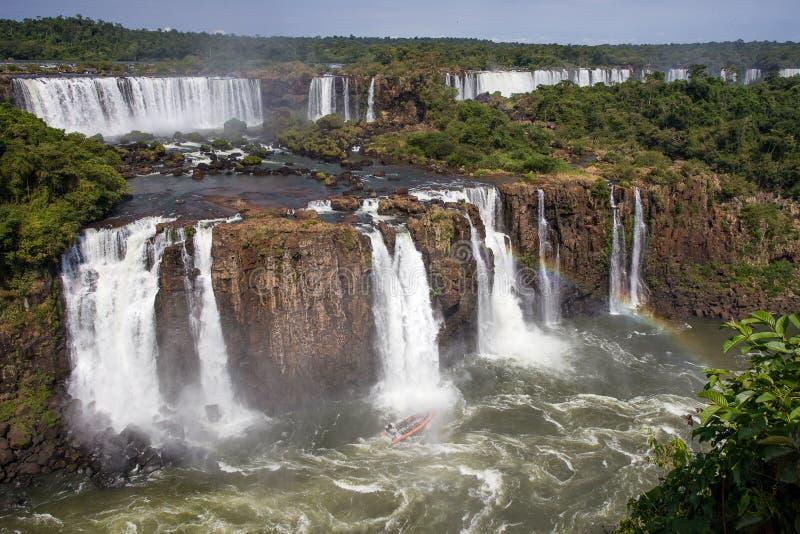 Vista de las cataratas del Iguazú en la Argentina fotos de archivo libres de regalías