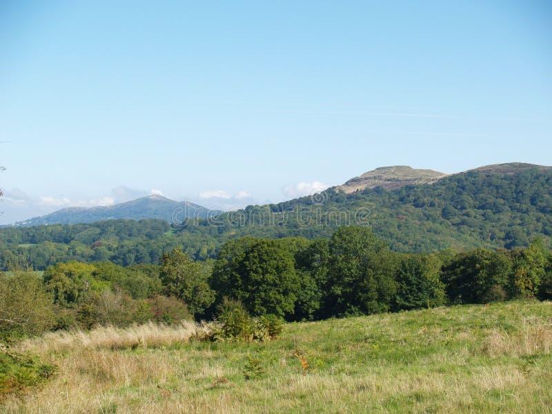 Vista de las colinas Worcestershire Inglaterra de Malvern imagen de archivo libre de regalías