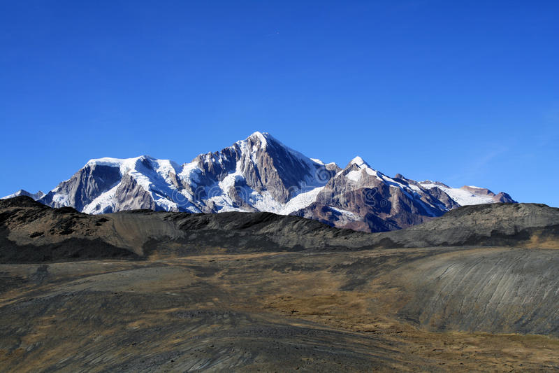 Vista de las montañas de los Andes fotos de archivo libres de regalías