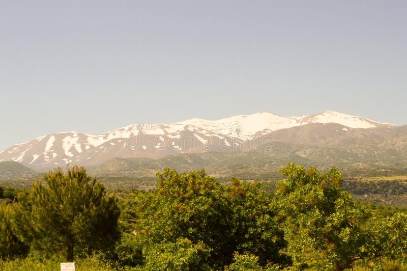 Vista de las montañas del soporte Ida foto de archivo