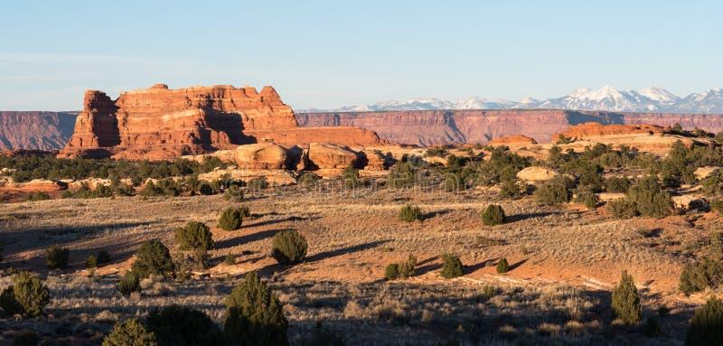Vista de las montañas de Salle del La del distrito Utah de las agujas fotos de archivo libres de regalías