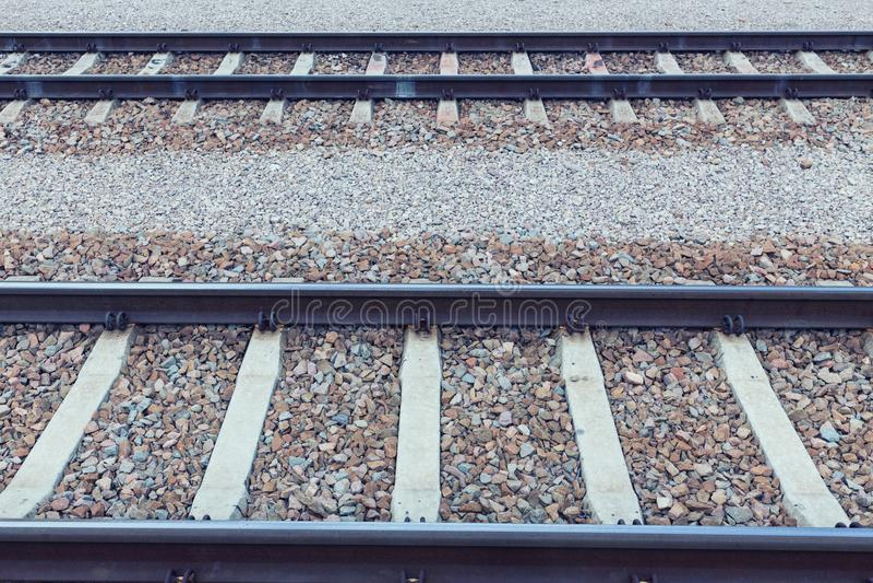 Vista de las pistas de ferrocarril foto de archivo
