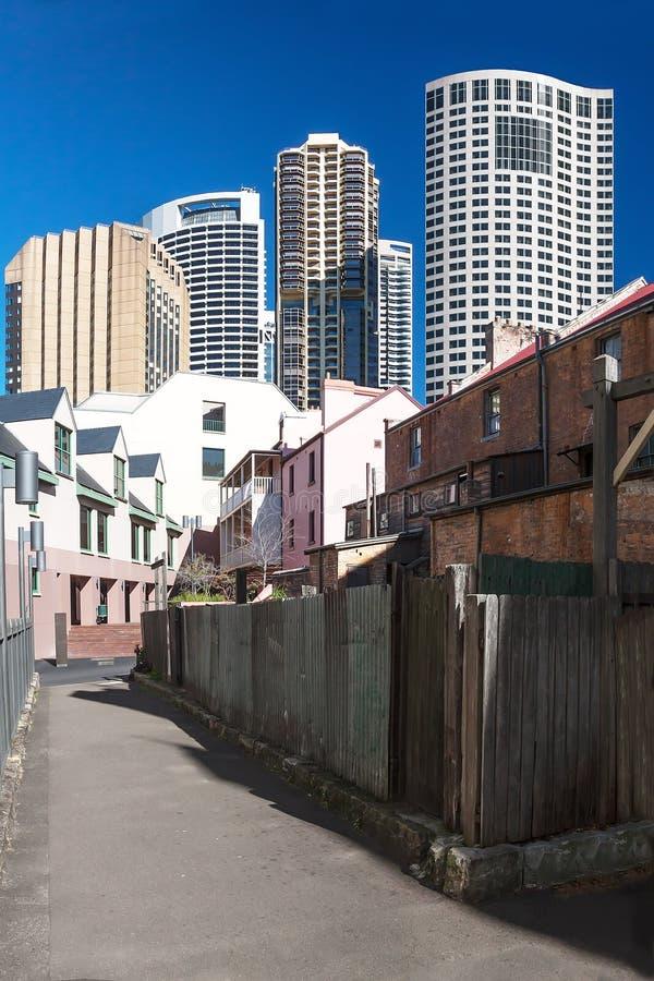 Vista de las torres altas de hoteles en Sydney fotografía de archivo