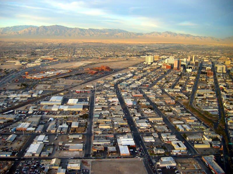Vista de Las Vegas y del desierto Las Vegas, Nevada, los E foto de archivo libre de regalías
