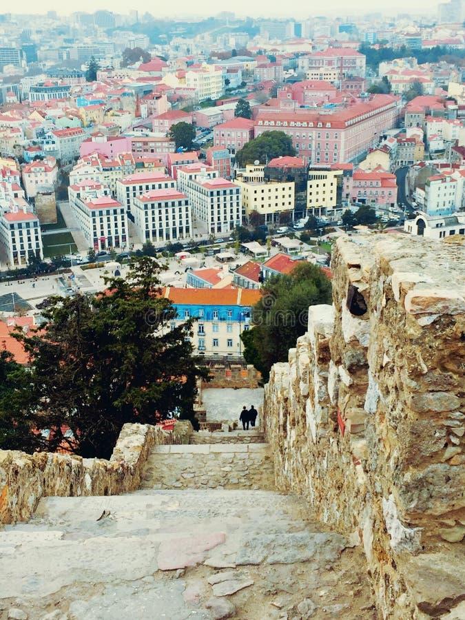 vista de Lisboa imagem de stock