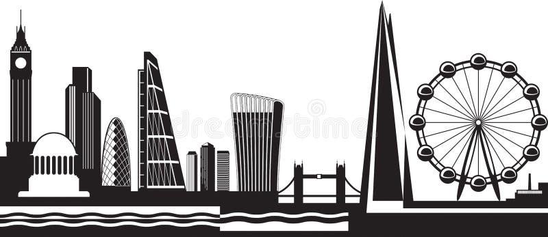 Vista de Londres no dia ilustração royalty free