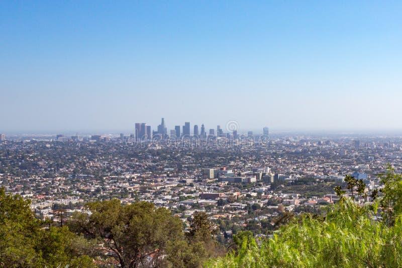 Vista de Los Ángeles céntrico imagen de archivo
