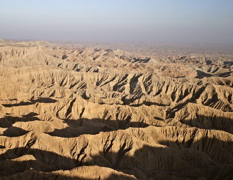 Vista de los Badlands de Borrego fotos de archivo libres de regalías