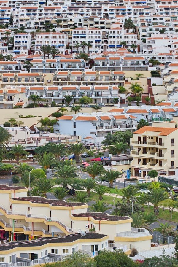 Vista de Los Cristianos Tenerife Islas Canarias españa imágenes de archivo libres de regalías