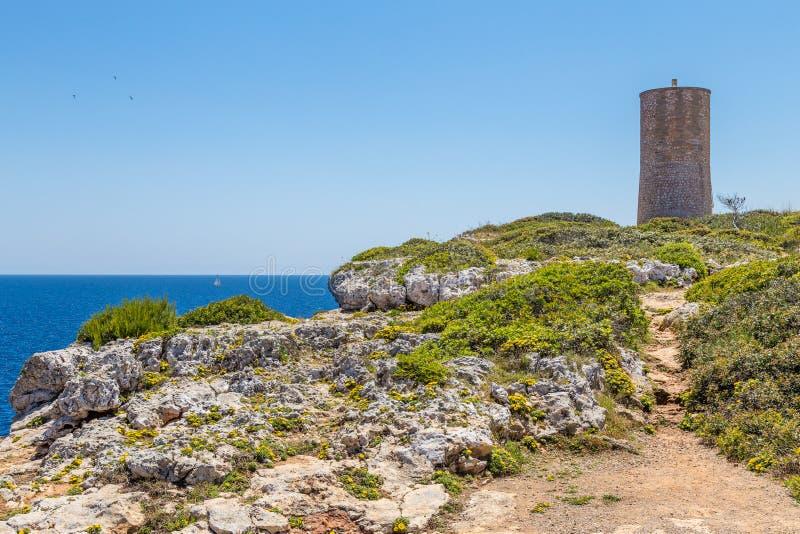 Vista de los Falcons de los dels de Torre del Serral cerca de la ciudad de Oporto fotos de archivo