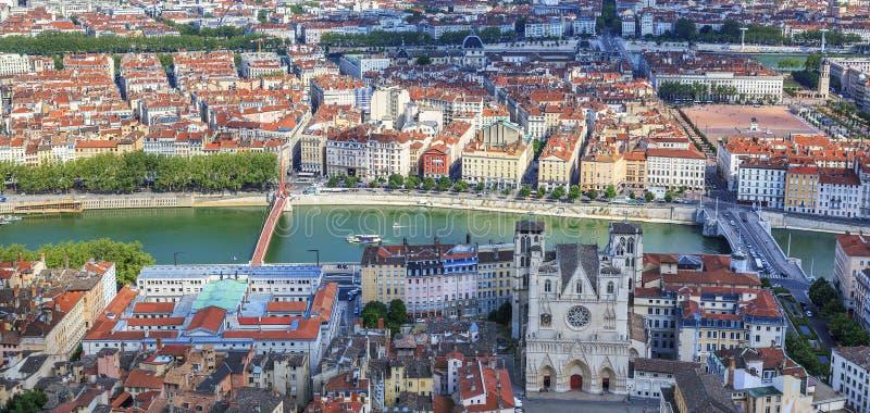 Vista de Lyon fotografía de archivo