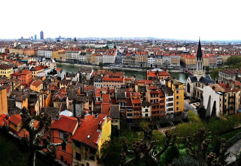 Vista de Lyon, France. imagens de stock