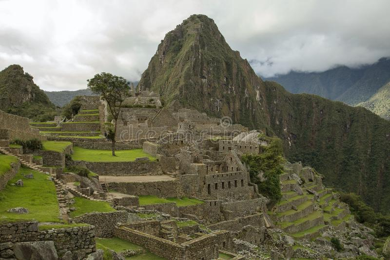 Vista de Machu Picchu no Peru fotos de stock