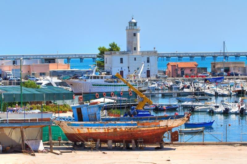 Vista de Manfredonia. Puglia. Italia. imágenes de archivo libres de regalías