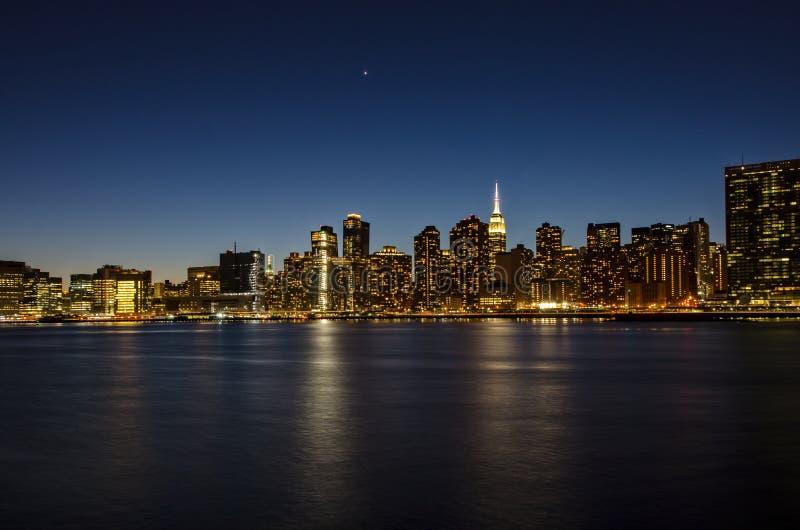 Vista de Manhattan de Brooklyn NY imagem de stock