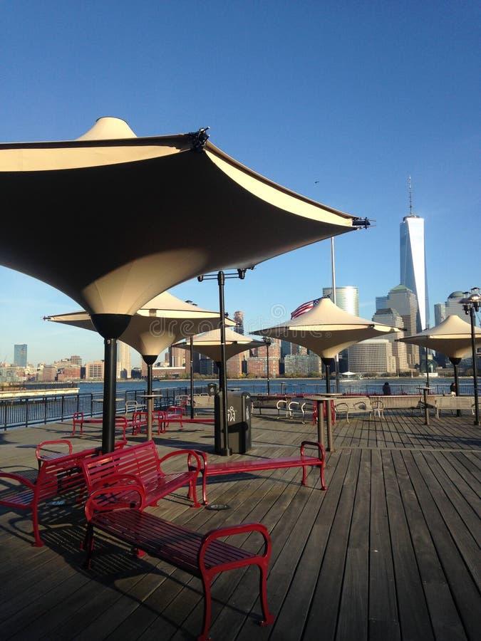 Vista de Manhattan de J Owen Grundy Park imagens de stock