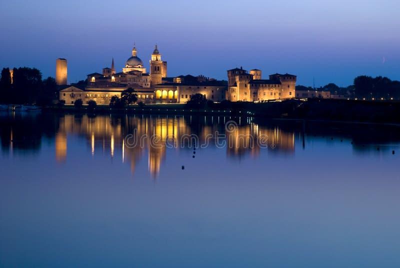 Vista de Mantova em Italy fotos de stock royalty free