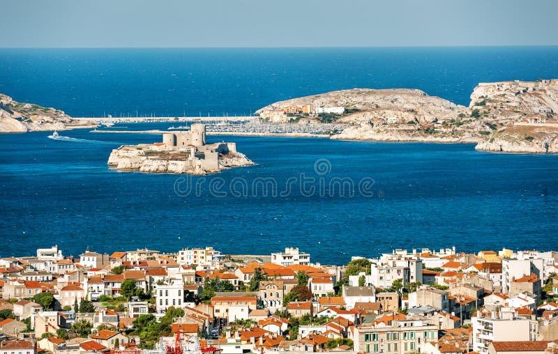 Vista de Marselha, França imagem de stock royalty free