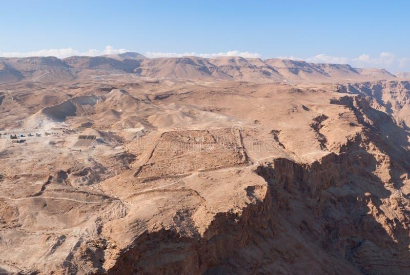 Vista de Masada fotos de stock royalty free