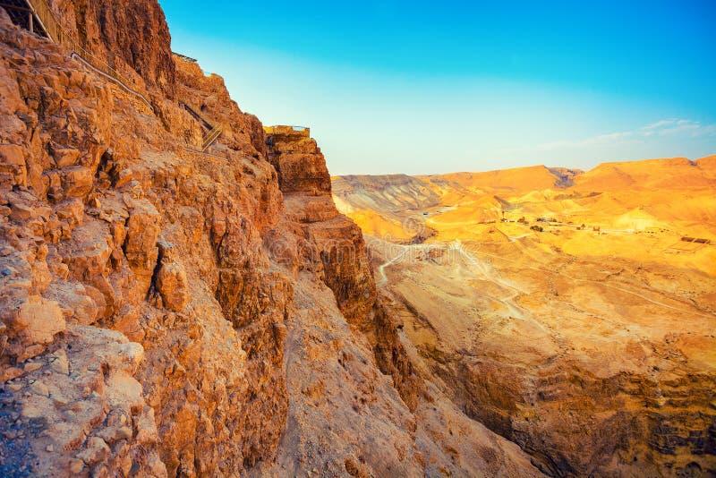 Vista de Masada, Israel foto de stock