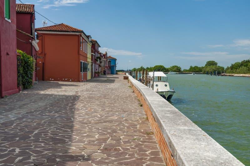 Vista de Mazzorbo, Venecia, Italia fotos de archivo