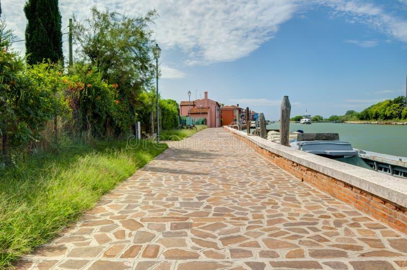 Vista de Mazzorbo, Venecia, Italia imágenes de archivo libres de regalías