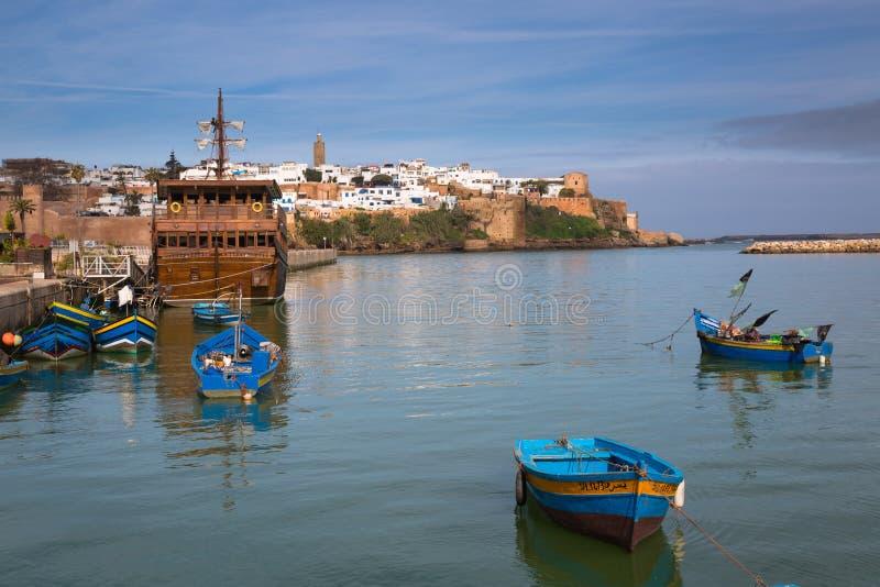 Vista de Medina Rabat, Marruecos imagenes de archivo