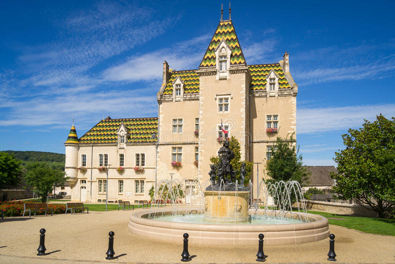 Vista de Meursault, França fotografia de stock royalty free