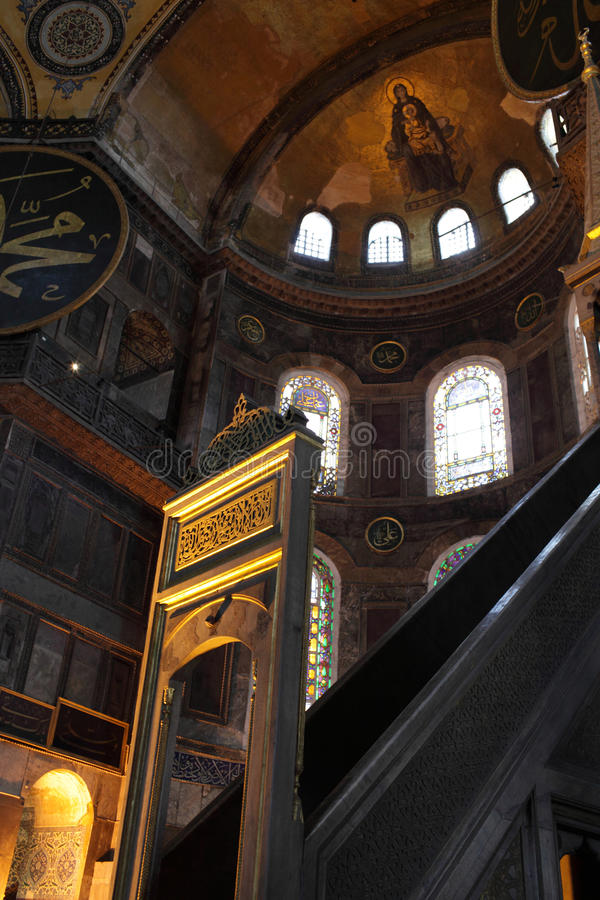 Download Vista De Minbar De Hagia Sophia Foto de archivo - Imagen de cultura, viejo: 44852296