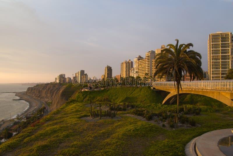 Vista de Miraflores fotos de stock royalty free