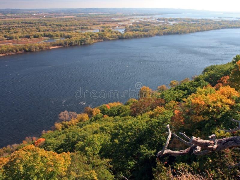 Vista de Mississippi do parque de estado do blefe fotografia de stock royalty free