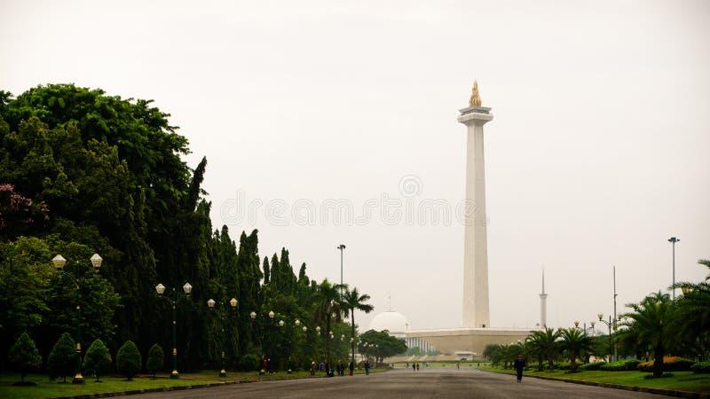 A vista de Monas, Jakarta, Indonésia imagens de stock