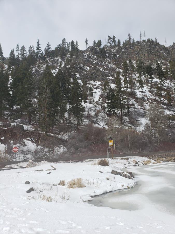 Vista de montanha Chilly foto de stock royalty free