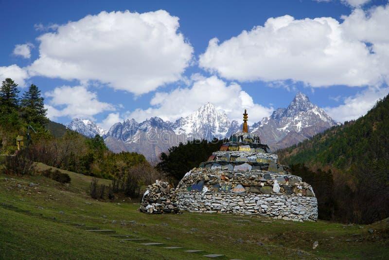 Vista de montanha em Sichuan imagem de stock