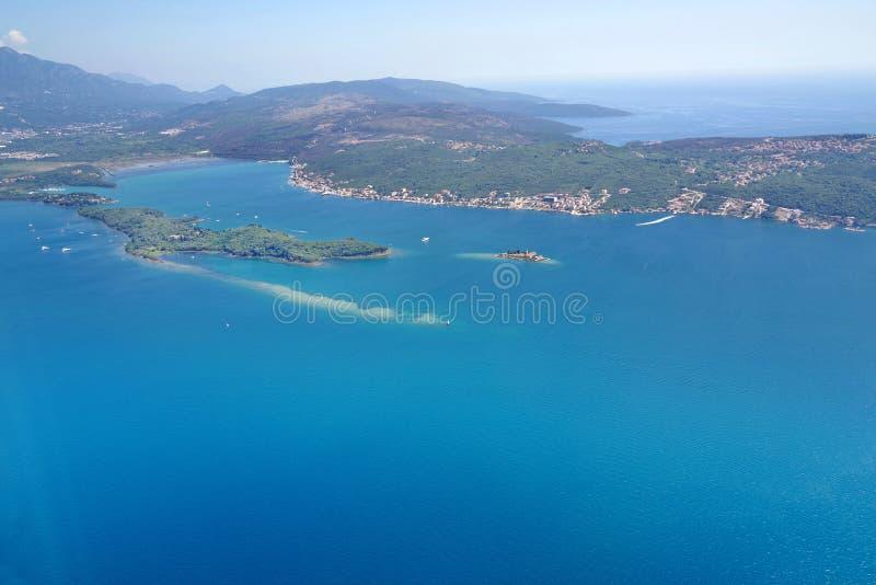 Vista de Montenegro del avión foto de archivo libre de regalías